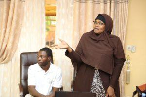 Dr  Aminata  SABANE/ZERBO et leurs étudiants développeurs
