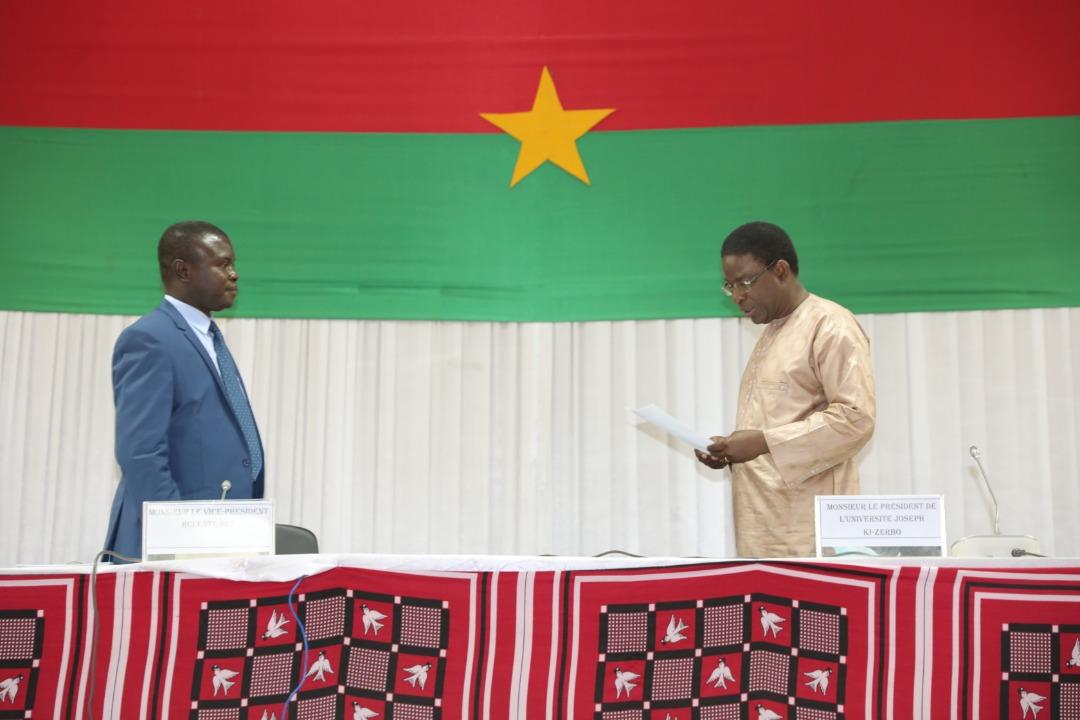 Université Joseph KI-ZERBO : Dr Bernard ZOUMA installé officiellement à la Vice-présidence chargée de la Recherche et de la Coopération Internationale