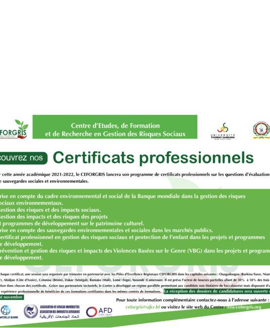 Ceforgris certificat.