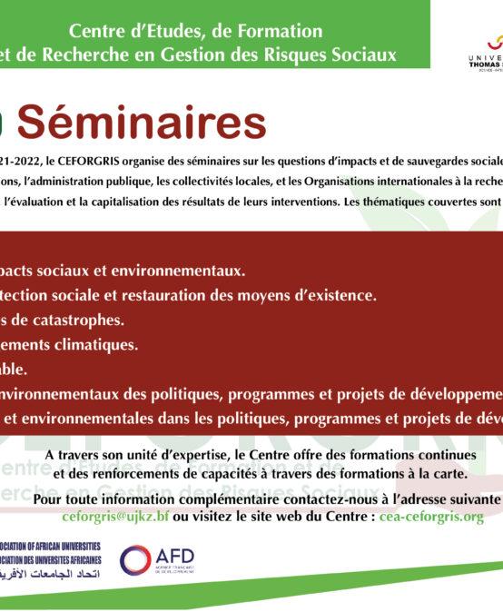 Ceforgris seminaire.