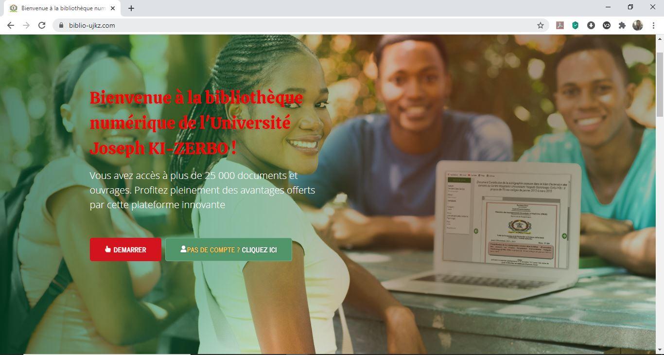 Lancement officiel de la bibliothèque numérique (www.biblio-ujkz.com) de l'Université Joseph KI-ZERBO