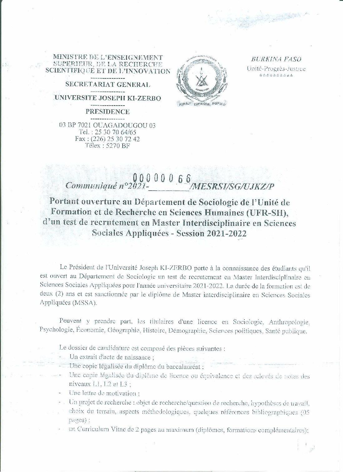 Recrutement-Master-en-Sciences-Sociales-Appliquées-2021-2022